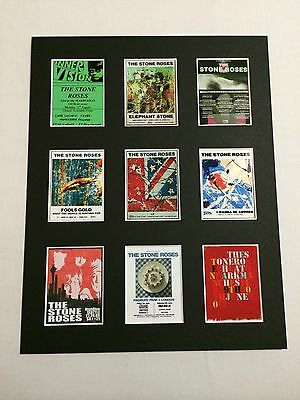 """STONE ROSES TOUR POSTER PICTURE MOUNTED 14"""" By 11"""" READY TO FRAME"""