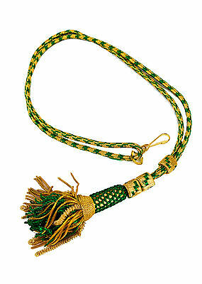"NEW 32"" Bishop Tassel Pectoral Cord GREEN/GOLD, Clergy Vestment"