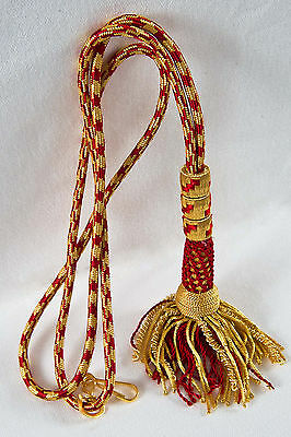 "NEW 32"" Bishop Tassel Pectoral Cord RED/GOLD, Clergy Vestment"