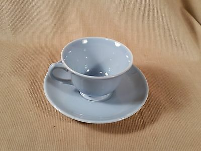 Lu-Ray Pastel Blue Tea Cup and Saucer - Free Priority Shipping!