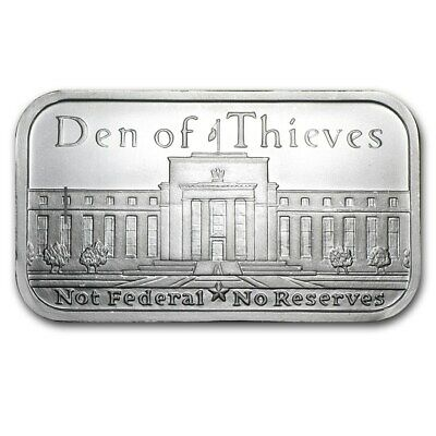 Silver Shield Den of Thieves - Federal Reserve 1 oz .999 Silver USA Bullion Bar