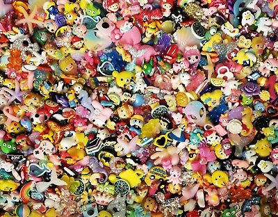 SO CuTe! NEW MIXED CHiLDREN GRAB BAG!Cabochon Lot,Resin,Flatback hairbows,SLIME