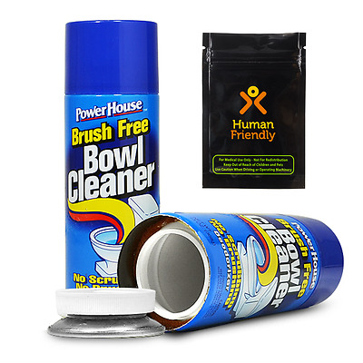 Power House Bowl Cleaner Diversion Safe Stash Can w FREE Smell Proof Bag + SHIP