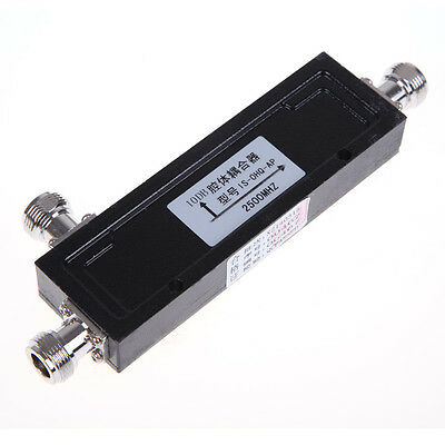 800-2500Hz 200W 10dB Cavity Directional Coupler N-Female Type Connector Black