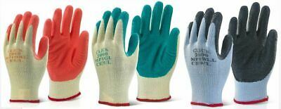 10 x Click 2000 MP1 Multi Purpose Gloves - Latex Palm Coated Builders Grip