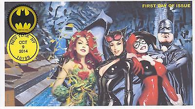Jvc Cachets -2014 Batman Issue First Day Cover Fdc Comic Super Hero Group #2 Cv5