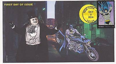 Jvc Cachets -2014 Batman Issue First Day Cover Fdc Comic Super Hero Group #2 Cv2