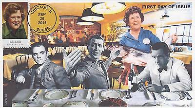 Jvc Cachets -2014 Celebrity Chef Issues First Day Covers Fdc Food Topical Cvr#1