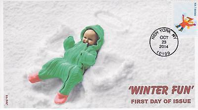 Jvc Cachets -2014 Winter Fun Issue First Day Cover Fdc Seasons Topical Cover #1