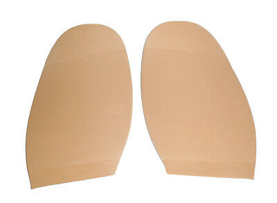 Fine Ribbed Soles in LIGHT SAND for DIY Shoe Repairs, Supplies