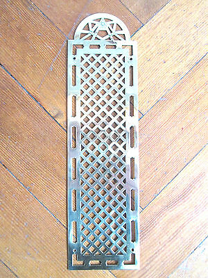Vintage Brass French Finger Door Plate