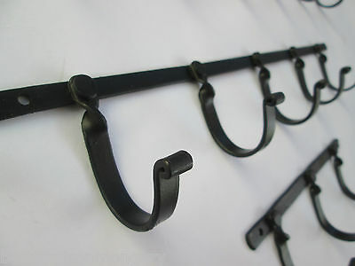 Vintage Country Hand Forged Wrought Iron Hook Rack Coat Hooks Kitchen Rack