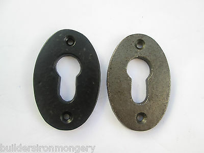 Vintage Old Style Iron Keyhole Key Hole Covers Escutcheon