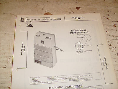 Kowa model KT-66 Photofact Folder,transistor radio