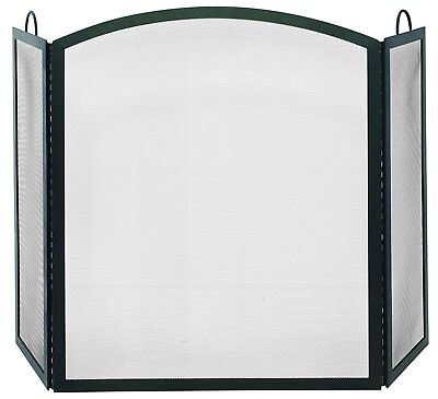 Uniflame 3 FOLD BLACK WROUGHT IRON ARCH TOP LARGE SCREEN S-1507 Fireplace Screen