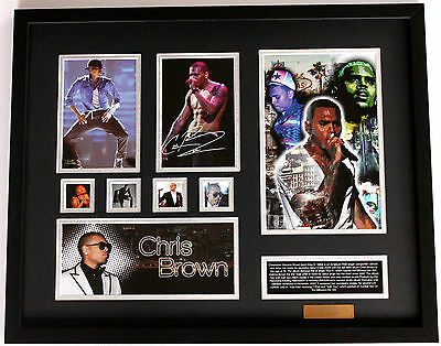 New Chris Brown Signed Limited Edition Memorabilia Framed