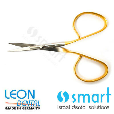 Dental micro surgery surgical Scissors tungsten carbide Germany Curved 109-006