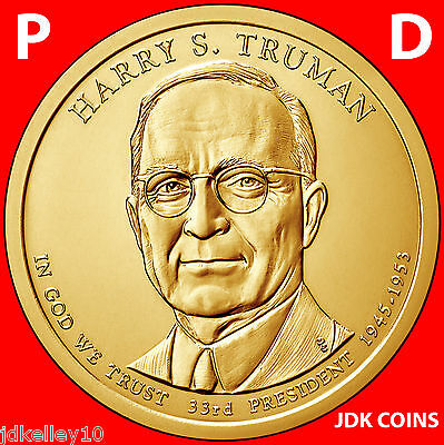 2015 P&d Harry S. Truman Presidential Dollar Set From Us Mint Rolls Uncirculated