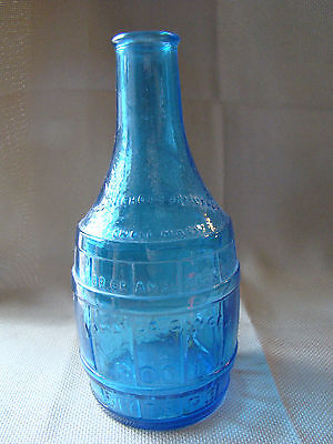 VTG Blue Glass Bottle Dr Chandlers Jamaica Ginger Root Bitters Lowell MA 1158