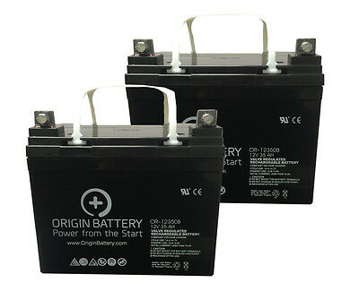 Invacare P9000 XDT 12V U1/35AH Battery Replacement Kit