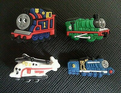 4 x Thomas Tank Engine SHOE CHARMS FOR CROCS AND JIBBITZ WRISTBANDS
