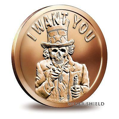 2014 Silver Shield Uncle Slave 1 oz .999 Copper BU Round USA Made Bullion Coin