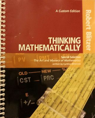 Thinking Mathematically by Robert F. Blitzer (Second Custom Edition, Ring Bound)