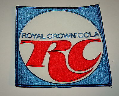 "Vintage RC Cola Soda Advertising Large Back of Jacket 6"" Cloth Patch 1980s"