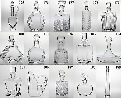 /175-189/ Glass Decanter Carafe Wine Whisky Sherry Brandy Liqueur Olive Port
