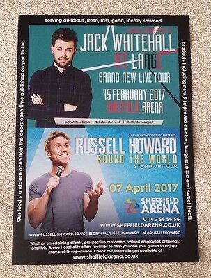 RUSSELL HOWARD/JACK WHITEHALL 2017 Tour/Concert Flyer Comedy Stand-Up Sheffield