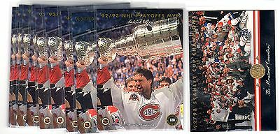1X PATRICK ROY 1993 94 Leaf #100 NMMT Lots Available Avalanche Canadiens