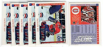 1X PATRICK ROY 1993 94 Score #315 NMMT Lots Available Avalanche Canadiens