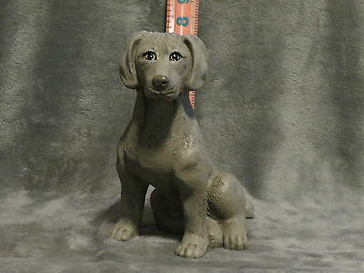 Weimaraner Plaster Dog Statue Hand Cast And Painted By T.c. Schoch