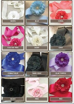 Girls Ladies Photo Shoot Belt Flower Girl Dress Sash Wedding Bridal Formal Bride