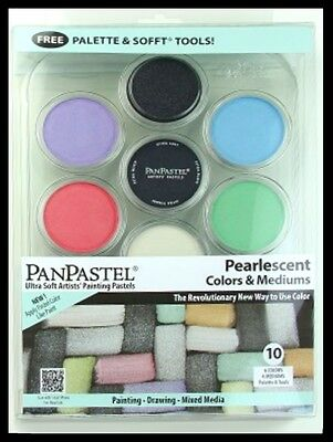 PanPastel -10  Pearlescent Colors and Mediums (Free Tools and Palette)