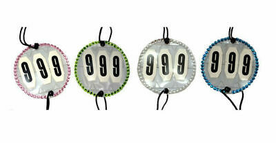 Competition Crystal Bridle No Holder 3 digit Numbers set of 2 show horse cattle
