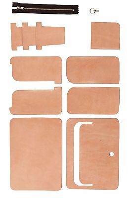 Craft Sha Leathercraft Leather Unisex Wallet Set Bill Fold Coin Case Kit Natural