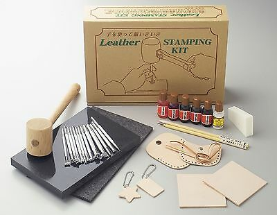 Craft Sha Leathercraft Leather Stamping Set, Stamps, Tools, Dyes & Lacquer Kit