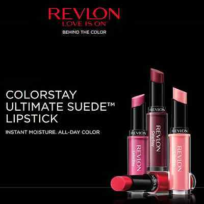 REVLON COLORSTAY ULTIMATE SUEDE LIPSTICK- INSTANT MOISTURE- choose your color