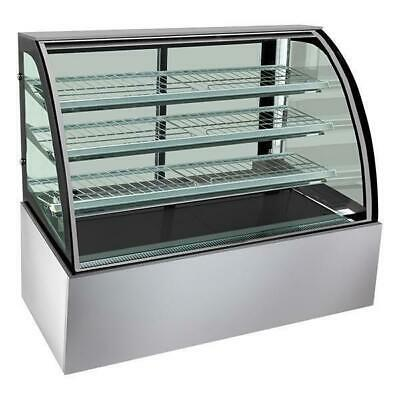 Hot Food Display Cabinet, Heated Deluxe Curved Unit 1200 x740 x1350mm
