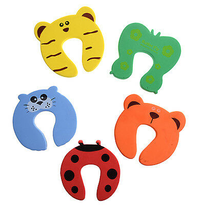 5x Baby Kids Door Stoppers Jammer Finger Pinch Guard Toddler Infant Safety ED