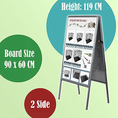 60x90 Double Sided A Frame Whiteboard Poster Stand Street Sidewalk Display Board