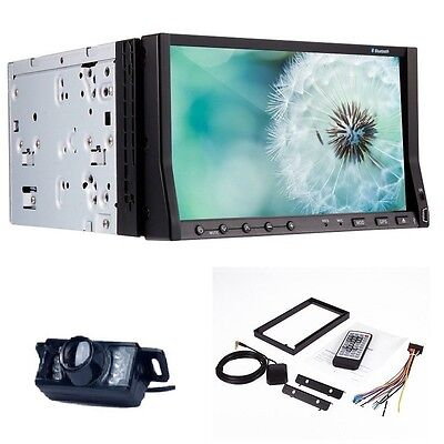 """Universal 7"""" 2Din LCD Digital Touch GPS Stereo Car DVD Player Radio RDS BT iPod"""
