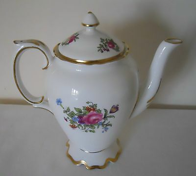Crown Staffordshire Floral Coffee Pot