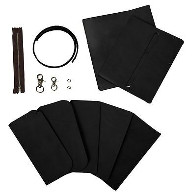 Craft Sha DIY Leathercraft Leather Long Biker Wallet / Billfold Kit, Black