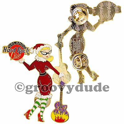 2001 Hard Rock Cafe Orlando Live Pin Christmas Hot Sexy Girl HRC Xmas Le 300 New