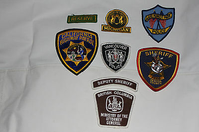 Lot Of 8  Police, Sheriff, And Corrections Patches