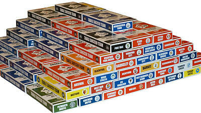 NAMED TEAM BOX HOLDERS FOR ALL SUBBUTEO & TABLE SOCCER TEAMS. SCOTTISH A to Z.
