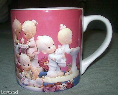 """1995 Love Fills Your Life With Precious Moments Big Large Cup Mug Enesco 4"""" tall"""