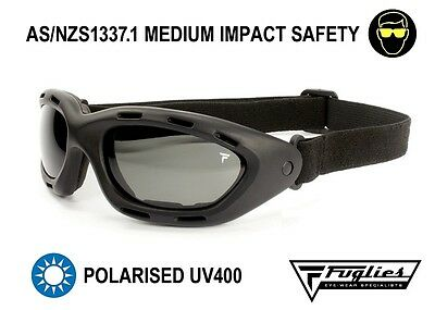 Fuglies GG01 Polarised Vented Goggles - AS/NZS1337.1 Medium Impact Safety